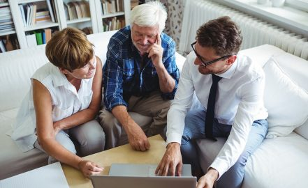 advisor meeting with retired couple