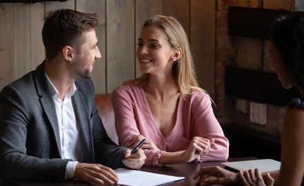 married couple opening a joint checking account